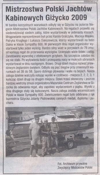 Artykuł z Gazety Olsztyńskiej